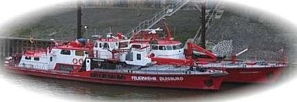 Feuerlöschboot Hafen Wache Ruhrort