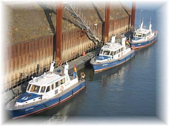 WSP Boote im Vinckekanal in Ruhrort