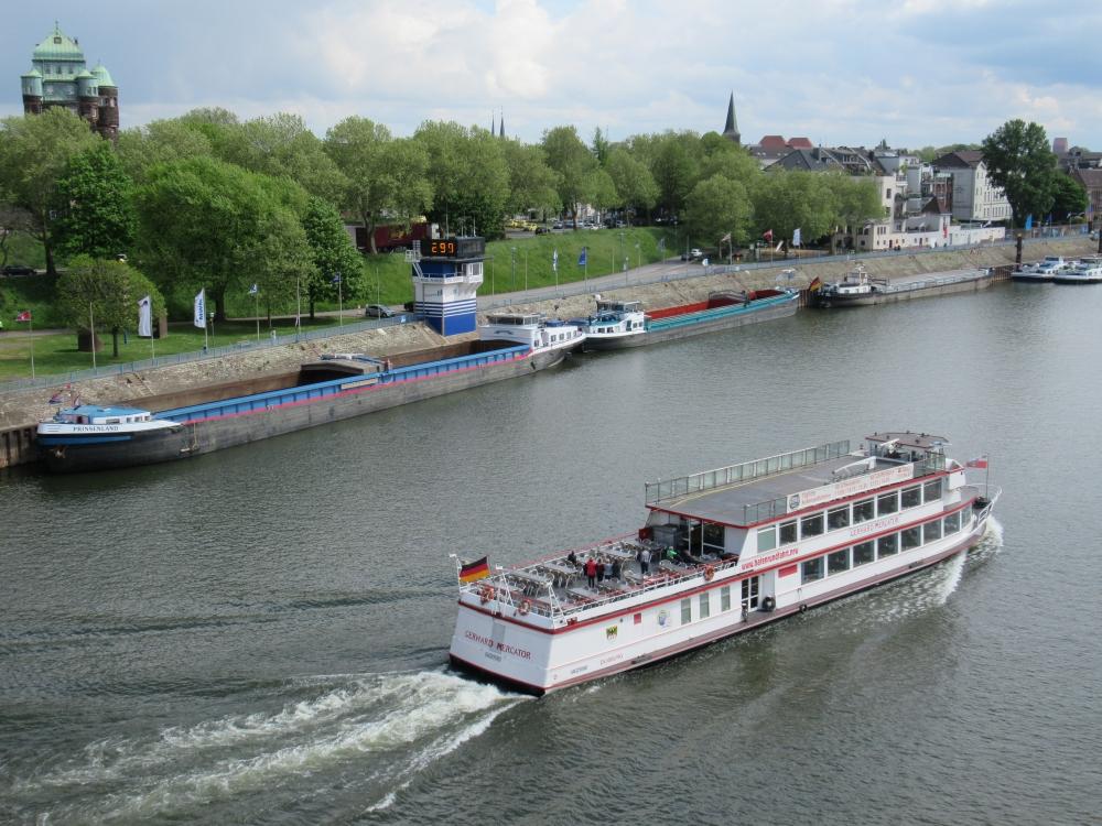 Hafenmund Ruhrort Hafenrundfahrtschiff