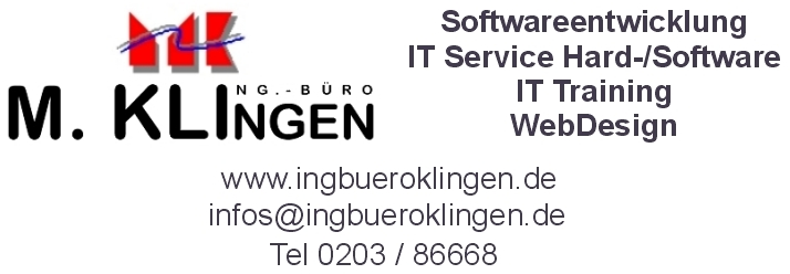 ingbueroklingen Softwareentwicklung IT Service Training Webdesign